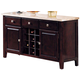 Acme Britney Marble Top Server in Walnut 17057