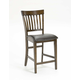 Hillsdale Arbor Hill Mission Back Non-Swivel Counter Stool in Colonial Chestnut (Set of 2) 4232-822