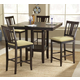 Hillsdale Arcadia 5pc Counter Height Dining Room Set w/ Non-Swivel Counter Stools in Espresso