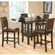 Hillsdale Arcadia 5pc Counter Height Dining Room Set w/ Parson Counter Stools in Espresso