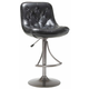 Hillsdale Aspen Adjustable Button Tufted Barstool in Oyster Gray (Set of 2) 4290-830