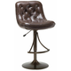 Hillsdale Aspen Adjustable Button Tufted Barstool in Copper (Set of 2) 4290-831