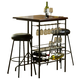 Hillsdale Bardstown 3pc Bar Set in Pewter 5036-890