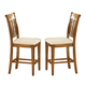 Hillsdale Bayberry Non-Swivel Counter Stool (Set of 2) in Oak 4766-822
