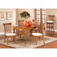 Hillsdale Bayberry 5pc Rectangular Dining Room Set in Oak