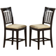 Hillsdale Bayberry Non-Swivel Counter Stool (Set of 2) in Dark Cherry 4783-822