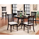 Hillsdale Bayberry 5pc Round Single Pedestal Dining Room Set in Dark Cherry