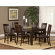 Hillsdale Brooklawn 7pc Fixed Top Dining Room Set in Smoke Brown