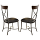 Hillsdale Cameron X-Back Dining Chair in Chestnut Brown (Set of 2) 4671-802