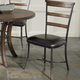 Hillsdale Cameron Ladder Back Dining Chair in Chestnut Brown (Set of 2) 4671-805