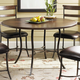 Hillsdale Cameron Simple Round Dining Table in Chestnut Brown 4671-810/811