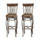 Hillsdale Montello Swivel Bar Stool in Old Steel (Set of 2)  41545