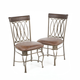 Hillsdale Montello Side Chair in Old Steel (Set of 2) 41543