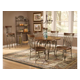 Hillsdale Montello 5 Piece Round Dining Set in Old Steel