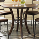 Hillsdale Cameron Round Counter Height Table in Chestnut Brown 4671-837/838