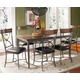Hillsdale Cameron 7pc Rectangle Dining Room Set w/ X-Back Dining Chairs in Chestnut Brown