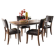 Hillsdale Cameron 5pc Rectangle Dining Room Set w/ Parson Dining Chairs in Chestnut Brown