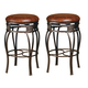 Hillsdale Montello Backless Swivel Bar Stool in Old Steel (Set of 2) 4361-831