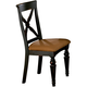 Hillsdale Northern Heights Dining Chair in Black/ Honey (Set of 2) 4439-802W