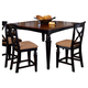 Hillsdale Northern Heights Counter Height Dining Table in Black/ Honey 4439-835W