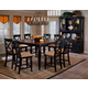 Hillsdale Northern Heights 9 Piece Counter Height Dining Set in Black/ Honey