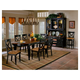 Hillsdale Northern Heights 7 Piece Oval Dining Set in Black/ Honey