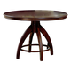 Hillsdale Nottingham Pedestal Dining Table in Dark Walnut 4077-812-3
