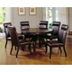 Hillsdale Nottingham 5 Piece Pedestal Dining Set in Dark Walnut