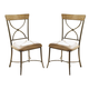 Hillsdale Charleston X-Back Dining Chair in Desert Tan (Set of 2) 4670-802
