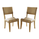 Hillsdale Charleston Parson Dining Chair in Desert Tan (Set of 2) 4670-804