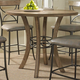 Hillsdale Charleston Round Counter Height Table in Desert Tan 4670-837/838