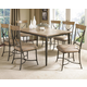 Hillsdale Charleston 7pc Rectangle Dining Room Set w/ X-Back Dining Chairs in Desert Tan