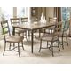 Hillsdale Charleston 7pc Rectangle Dining Room Set w/ Ladder Back Dining Chairs in Desert Tan