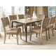 Hillsdale Charleston 7pc Rectangle Dining Room Set w/ Parson Dining Chairs in Desert Tan