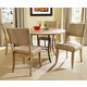 Hillsdale Charleston 5pc Simple Round Dining Room Set w/ Parson Dining Chairs in Desert Tan