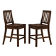 Hillsdale Outback Non-Swivel Counter Stool with Back Support in Distressed Chestnut (Set of 2) 4321-827