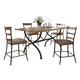 Hillsdale Charleston 5pc Rectangle Counter Height Dining Room Set w/ Non-Swivel Ladder Back Counter Stools in Desert Tan