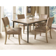 Hillsdale Charleston 5pc Rectangle Dining Room Set w/ Parson Dining Chairs in Desert Tan