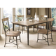 Hillsdale Charleston 5pc Rectangle Dining Room Set w/ Ladder Back Dining Chairs in Desert Tan