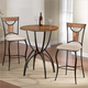 Hillsdale Pacifico 3 Piece Bar Height Bistro Set in Black/Copper