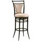 Hillsdale Cierra Swivel Bar Stool with Fawn Light Beige Faux Suede in Black (Set of 2) 4592-837