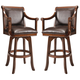 Hillsdale Palm Springs Swivel Bar Stool in Medium Brown Cherry (Set of 2) 4185-830
