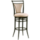 Hillsdale Cierra Swivel Counter Stool with Fawn Light Beige Faux Suede in Black (Set of 2) 4592-824