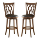 Hillsdale Dynamic Designs Mansfield Swivel Bar Stool in Brown (Set of 2) 4975-832