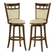 Hillsdale Dynamic Designs Jefferson Swivel Bar Stool in Brown Cherry (Set of 2) 4975-830