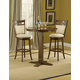 Hillsdale Dynamic Designs 3pc Bar Height Bistro Set w/ Mansfield Bar Stools in Brown