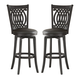 Hillsdale Dynamic Designs Van Draus Swivel Bar Stool in Black (Set of 2) 4975-831