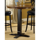 Hillsdale Dynamic Designs Bar Height Bistro Table in Black (Set of 2) 4975-840/842