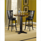 Hillsdale Dynamic Designs 3pc Bar Height Bistro Set w/ Van Draus Bar Stools in Black