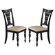 Hillsdale Embassy Dining Chairs in Rubbed Black (Set of 2) 4808-802
